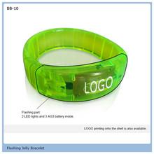 flag flashing silicone bracelet gift