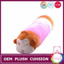 Newest stuffed and plush soft monkey long animal toy cushion