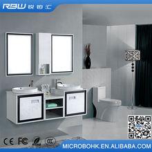 China Exporter hotel waterproof hangzhou pvc bathroom cabinet