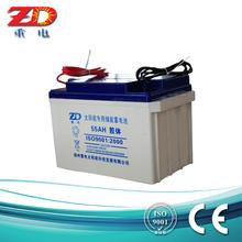 12v 55ah VRLA solar battery gel battery rechargeable AGM battery