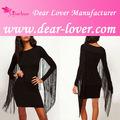 venta al por mayor 2014 angel negro con borlas de imágenes del sexo de la boda vestidos de noche