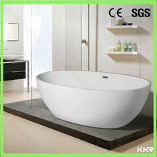 oval shape gel -coat bathroom bath tub / acrylic solid surface bathtub