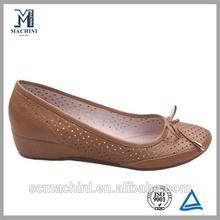 Perf upper wedge heel shoes dress shoes lady footwear shoe