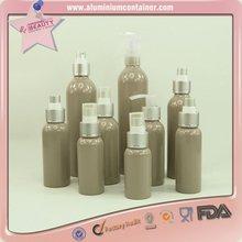 aluminum cosmetic bottles of various capacity