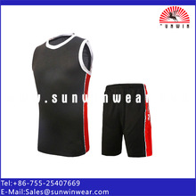 Black color custom best basketball top with 11 year factory clothing experience