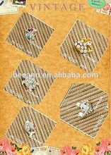 2014 3d nail art in decal&stickers,shining creatures metallic rhinestone nail art jewelry for charming rhinestone