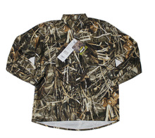 Mens Outdoor Leisure Long Sleeves Shirt Quick Dry shirt Reed camouflage Duck Hunting Shirt