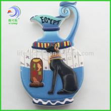 souvenir resin 3d egypt cat fridge magnet