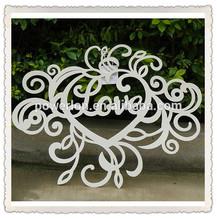 Handmade Heart Shape Antique Hanging Wrought Iron Wall Art Decor