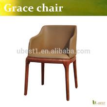 European style dining chair wood armchair