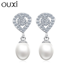 OUXI 2015 wholesale unique traditional pearl earring Made With Crystal Y20271