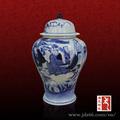 colecionáveis chinês mão pintada de azul e branco ginger jar