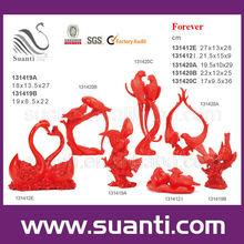 Popular red love bird wedding souvenir