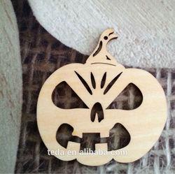 wood craft halloween pumpkin