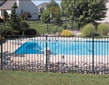 decorative gardon metal picket fence for export