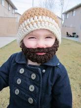 Crochet Santa Beard Hat Pattern Kids Bearded Santa Hat, crocheted hats santa Shanghai