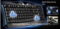 Special design gaming keyboards Wired 3backlits ergonomic game player favorit