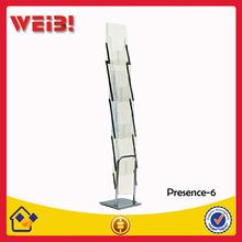 Plexiglass Aluminum Stand Leaflet Holder