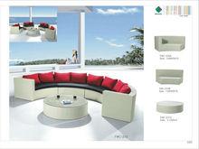 Outdoor courtyard rattan half circle turkish sofa furniture FWC-232