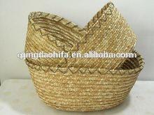 naturale di paglia artigianali tessuto cestino del pane