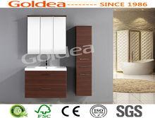 alibaba express Brown KD cheap modern bathroom furniture