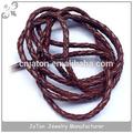 de color púrpura de cuero genuino de la vaca ocultar el cable de tejido