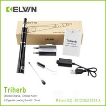 KELVIN Unique triangular shape smooth vapor dry herb Triherb vaporizer exgo w3