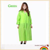 Green eco-friendly Adult EVA raincoat