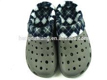 Removable Winter nurse shoes warm nurse clogs for men