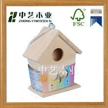 2014 new decorative handmade christmas wooden bird house
