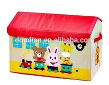New Fashion Design Foldable Fabric Toy Box /Colorful Cartoon Storage Box