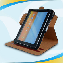 Hot Whosale newest latest design rotating pu pen hole 10 Inch Tablet leather case
