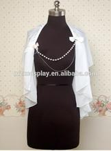 Stylish Women White Cute Chiffon Sweet Lolita Coat Outwear Shawl Custom Made Halloween Gifts