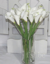 wholesale cheap PU artificial white calla lily flower,artificial lily of the valley YZT1-1363