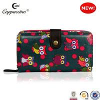 New Cartoon Owl Polka Dot pattern oilcloth leather case for iphone 6,for iphone 6 case,for iphone 6 wallet case