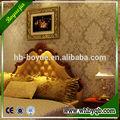 Eko- dostu ses yalıtımlı süet duvar kağıdı kumaş kağıt yatak odası