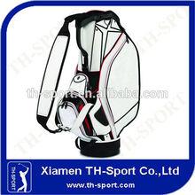 luxury pu leather golf cart stand golf bag