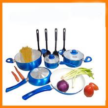 Aluminum non-stick ceramic cookware set removable handles 5pcs