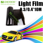 Hot sale car led headlight tint film with 12 colors