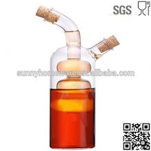 hand made glass oil vinegar 2 in 1