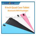 venta caliente 9 pulgadas quad core de color rosa de tablet pc