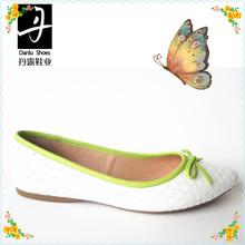 DB918F-B5566 2014 women flat shoe white leather rubber soles lady flat shoe