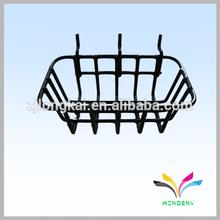 China supplier good quality top sale black durable shampoo shelf wall mounted metal hanging baskets for small bathroom