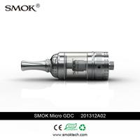 High quality big vapor Smoktech 4ml pyrex glass Micro GDC clearomizer bottom dual coils tank airflow control