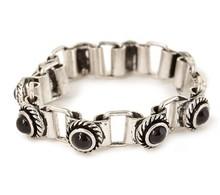 B798-070 fashion anti silver vintage chain link pendant bracelet