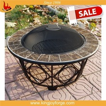 elegant and sturdy package outdoor fire pit table with ceramic tiles