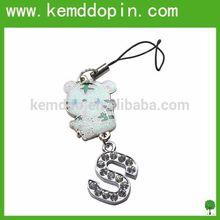 Hot sale cartoon kitty with glitter powder and diamond hello kitty keychain