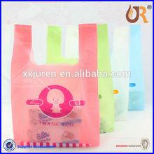 Cheap t-shirt plastic bag printing/custom printed small plastic bag