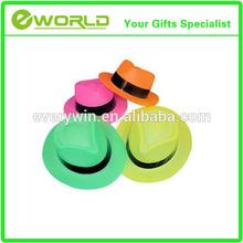 Neon Color Plastic Gangster Hats