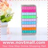 2014 cheapest rhinestone wallet for iphone 5, bling flip leather cover for iphone 5s